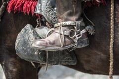 Gaucho's equipment. Shoes of guacho, charro, cowboy in Latin America Stock Photo