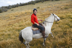 Gaucho in Torres del Paine National Park, Patagonia, Chile Stock Photography