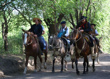 Gauchos in Argentina Royalty Free Stock Images