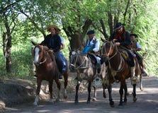 Gauchos in Argentina. A Guacho festival in Santa Rosa de Calamuchita, Argentina Royalty Free Stock Images