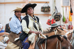 Gauchos on traditional festival in Purmamarca, province Jujuy Stock Photography