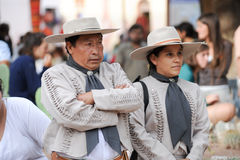 Gauchos on traditional festival in Purmamarca, province Jujuy Stock Images