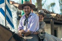 Gauchos wirft während Patria Del Gaucho, Uruguay auf Lizenzfreies Stockfoto