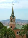 GaudÃ家博物馆在Parc Guell 免版税库存照片