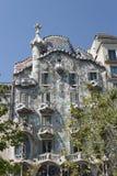 GaudÃ的住处Batllo在巴塞罗那 库存图片