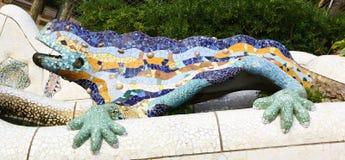 Gaudì做的奇怪的蜥蜴,巴塞罗那 免版税库存图片