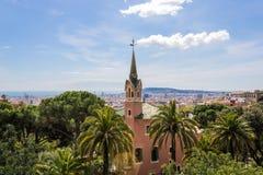 GaudÃ-Haus-Museums-Casa Museu Gaudà in Park Gà ¼ Elle in Barcelona - Bild stockfoto