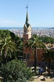 The Gaud house-museum in the Park Guell of Barcelona. Stock Photography