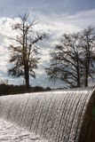 Gaudalupe River Weir. This pic was taken on the Guadalupe River in Kerrville Texas New Years Eve 2016 Stock Image