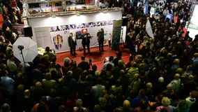 Gaudeamus书市,布加勒斯特,罗马尼亚2014年 股票录像