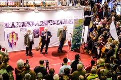 Gaudeamus bokmarknad, Bucharest, Rumänien 2014 Arkivfoton