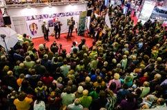 Gaudeamus bokmarknad, Bucharest, Rumänien 2014 Arkivfoto