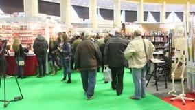 Gaudeaumus book fair 2014 stock footage