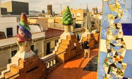 Gaudi五颜六色的建筑学 图库摄影