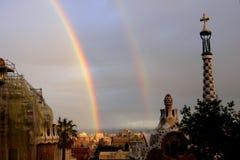 Gaudi在巴塞罗那运作 库存照片