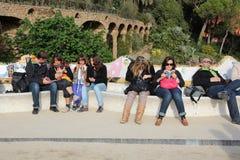 Gaudi地标,巴塞罗那 免版税库存照片
