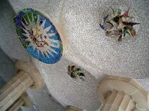 Gaudi马赛克 免版税图库摄影