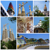 gaudi Ισπανία του Antoni Βαρκελώνη Στοκ φωτογραφία με δικαίωμα ελεύθερης χρήσης