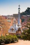 gaudi της Βαρκελώνης guell parc Στοκ Εικόνες