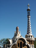 Gaudi. Detail, at park Guell, Barcelona Stock Images