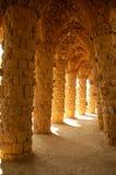 Gaudi acena em Parque Guell em Barcelona Imagens de Stock