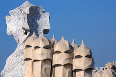 Gaudi Architecture - Barcelona - Spain Royalty Free Stock Photos