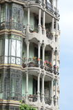 Gaudi architecture. The fragment of Gaudi building in Barcelona, Spain Stock Images