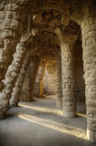 Gaudi architecture. Scene from Parc Guell in Barcelona, Spain stock photo