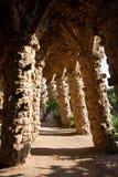 Gaudi arcs. Arcs in Gaudi Guell Park, Barcelona Stock Image