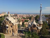 Gaudi au parc Guell, Barcelone, Espagne Images stock