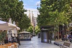 Gaudi aveny, Barcelona Royaltyfria Bilder