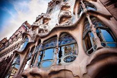 Gaudi balkon Zdjęcie Stock