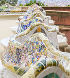 Gaudi benches_mosaic Stock Photo