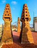 Gaudi brick architecture Stock Images