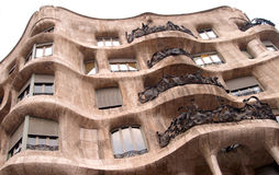 Gaudi building. In barcelona Royalty Free Stock Photos