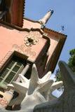 Gaudi Building. Architecture at the Gaudi park, Barcelona stock photos