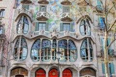 Gaudi building. Gaudi structure-Casa Batllo in Barcelona Stock Photos