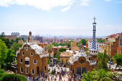 Gaudi buildings and landscape barcelona Stock Photos