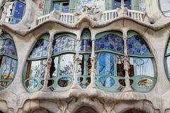 Gaudi byggnad Fotografering för Bildbyråer
