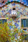 Gaudi - Casa Batllo. A closeup view of some of the details in Casa Batllo, a famous landmark building in Barcelona, Spain, designed by Gaudi royalty free stock photo