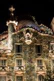 Gaudi Casa Batllo bij nacht, Barcelona Stock Foto's