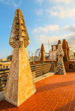 Gaudi ceramic architecture Royalty Free Stock Photo
