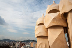 Gaudi chimney Royalty Free Stock Photography