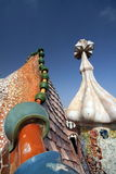 Gaudi Chimneys Stock Photos