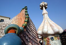 Gaudi Chimneys Stock Images