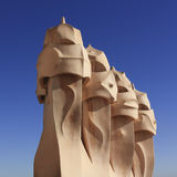 Gaudi Chimneys, Barcelona Stock Photography