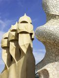 Gaudi chimneys, Barcelona, Spain Stock Image