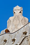 Gaudi Chimneys at Casa Mila, Barcelona Spain Stock Photo
