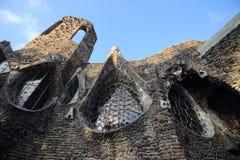 Gaudi crypt, Barcelona, Spain Stock Image