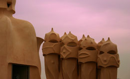 Gaudi dachy Obraz Royalty Free